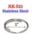"1"" Stainless Key Ring: Great For Salt Water Applications RK-S25/Per-Piece"