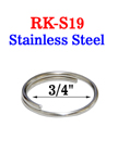 "3/4"" Stainless Medium Size Keyring: Great For Wet Environment RK-S19/Per-Piece"