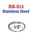 "1/2"" Stainless Small Key Ring: Great For Harsh Environment RK-S13/Per-Piece"