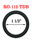 "1 1/2"" Big Size Black O-Ring For Bigger Strap or Belt RO-112-TDB/Per-Piece"