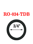 "3/4"" Black Colored O-Ring: Heavy Duty Metal Ring RO-034-TDB/Per-Piece"
