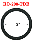 "2"" Large Black Oring: Not Shinning Black Color RO-200-TDB/Per-Piece"