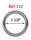 "1 1/2"" Bag Strap O-Ring: Great For Handbag and Backpack Making RO-112/Per-Piece"