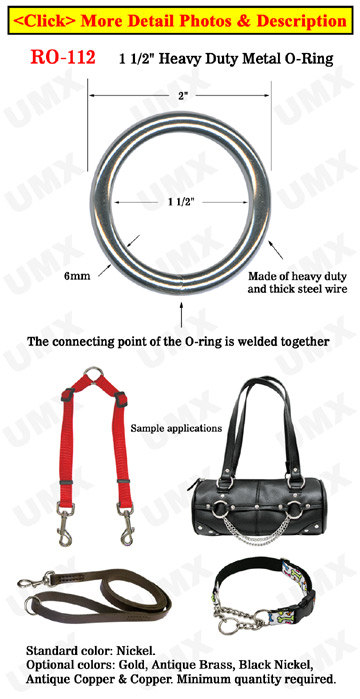 "1 1/2"" Bag Strap O-Ring: Great For Handbag and Backpack Making"