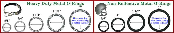 Heavy Duty Steel Metal O-Rings: Bulk Packed Wholesaler of Dog Leashes, Pet Collars, Bag Straps, Belts, Round O-Ring Supplies