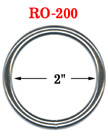 "2"" Large Size Heavy Duty Metal O Ring : Great For Utility Belt & Heavy Weight Strap Making RO-200/Per-Piece"