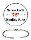 "7.5"" Large Size Secure Lock Binder Rings - Threaded Screw Lock Binders"