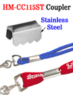 Stainless Steel Couplers: Clamping Fasteners For Craft Cords or Straps HM-CC115ST/Per-Piece