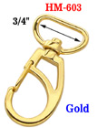 "3/4"" Enhanced Gold Frame Bolt Snap Hooks For Flat Straps HM-603/Per-Piece"