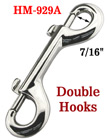 "4"" Two-End Rigid Bolt Snaps: Heavy-Duty Non-Swivel Metal Snap Hooks HM-929A/Per-Piece"