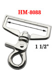 "1 1/2"" Wide Strap Lobster Clip Hooks: For Flat Rope HM-8088/Per-Piece"