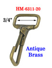 "Non-Swivel Metal Wire Loop Spring Hooks: For 3/4"" Straps"