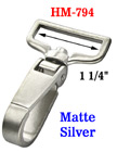 "1 1/4"" Wide Push Latch  Matte Silver Bolt Snap Hooks For Flat Straps HM-794/Per-Piece"