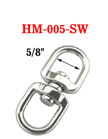 "Heavy Duty Swivel Double Rings: With5/8"" Eye-Rings"