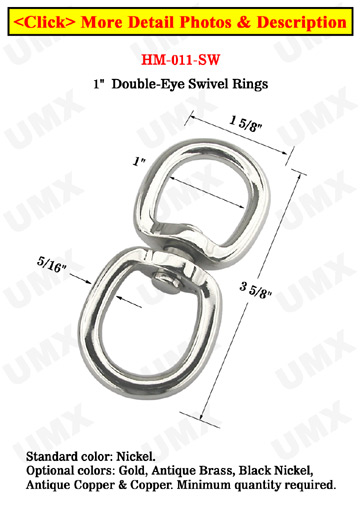 super large swivel double rings with 1 heavy duty rings