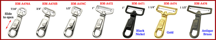 U-Sleeve Slide Bolt Snap Hooks
