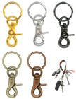 Key Chains With Heavy Duty Steel Metal Lobster Claw Hooks + Keychain Rings Pre-Assembled