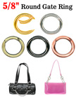 "5/8"" Round Gate Rings For Keychains, Purse, Handbag, Bag or Lanyard Straps"