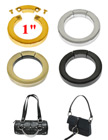 "1"" Secured Purse Strap Rings: Round O-Rings For Purse Straps, Handbag Straps or Bag Straps"