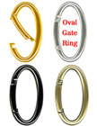 Big Oval Gate Ring Key Chains For Keys and Lanyard Straps