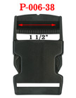 "1 1/2"" Big Plastic Side Release Buckles For Flat Straps P-006-38/Per-Piece"