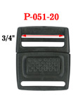 "3/4"" Easy Center Release Plastic Buckles: For Pet Collars or Vest Locks P-051-20/Per-Piece"