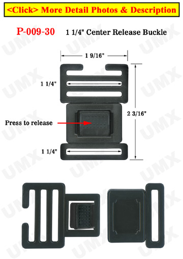 "1 1/4"" Easy Ladder Lock Center Release Plastic Buckles"