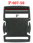 "2"" Heavy-Duty Plastic Buckles with Side Release Latch"