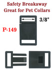 "3/8"" Small Pet Collar Plastic Buckles: For Small Cat or Dog Collars With Safety Breakaway Function P-149/Per-Piece"