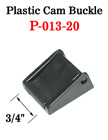 "3/4"" Plastic Cam Fastening Strap Buckles: with Two Strap Holes P-013-20/Per-Piece"