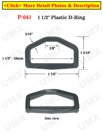 "1 1/2"" Hexagon Plastic Rings: Made of Heavy Duty Plastic"