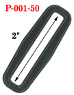 "2"" Jumbo Size Rectangular Shape Heavy Duty Plastic Rings"