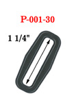 "1 1/4"" Popular Size Rectangle Plastic Rings with Enhanced Edge P-001-30/Per-Piece"