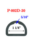 "1 1/4"" Popular Size Indented Plastic D-Ring: For Apparel, Lanyards and Crafts Making P-002D-30/Per-Piece"