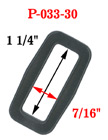 "1 1/4"" Popular Thick Strap Rectangle Plastic Ring P-033-30/Per-Piece"