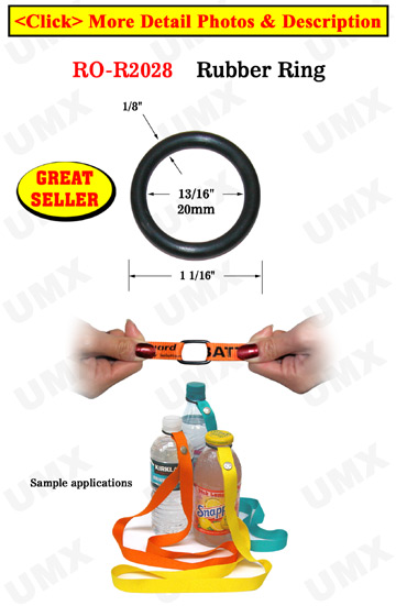 "13/16"" Great Seller Rubber O-Ring: For Apparel, Lanyards and Crafts Making"