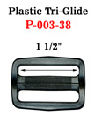 "1 1/2"" Large Size Plastric Tri-Glide Adjustable Strap Buckles"