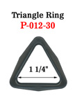 "1 1/4"" Popular Size Plastic Triangle Rings P-012-30/Per-Piece"