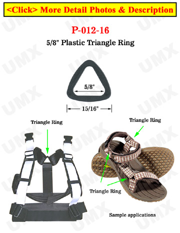 "5/8"" Small Triangle Plastic Rings"