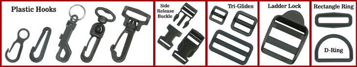 Plastic Accessories & Hardware Components: Like Plastic Hooks, Buckles, Rings, Locks, Snaps & Studs