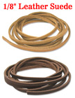"Leather Suede: Genuine Small, Narrow & Flat Leather Cords / Strings - 1/8""(W)x60""(L) LS-030/Per-Piece"