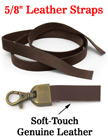 "Leather Straps: Genuine Soft-Touch Leather - 5/8""(W)x36""(L) LS-5836-S/Per-Piece"