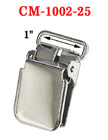 "1"" Heavy-Duty Suspender Clips With Heavy Weight Lock Jaw Without Plastic PVC Teeth: Nickel Color CM-1002-25/Per-Piece"