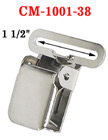"1 1/2"" Thick Strap Heavy-Duty Tool Belt Suspender Clips Without Plastic PVC Teeth: Nickel Color CM-1001-38/Per-Piece"