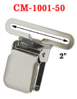 "2"" Tool Belt Suspender Clips: For Wide Strap Belt Suspender Without Plastic PVC Teeth: Nickel Color CM-1001-50/Per-Piece"