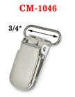 "3/4"" Simple Metal Suspender Clips Without Plastic PVC Teeth: Nickel Color CM-1046/Per-Piece"
