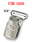 "3/4"" Metal Snowman Suspender Clips Without Plastic PVC Teeth: Nickel Color CM-1050/Per-Piece"