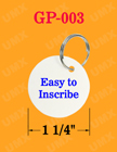 Durable Fiber Key Tags with Split O-Rings GP-003/Bag-of-100Pcs