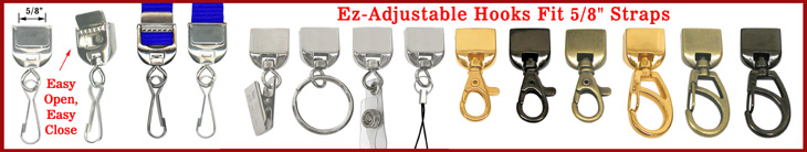 Ez-Adjustable Lanyard Hardware: Accessory Adptors, Strap Connectors & Metal Buckles