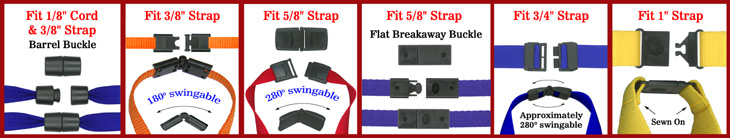 Plastic Safety Breakaway Buckles